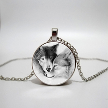 Glass necklace wolf totem handmade personality accessories custom glass Necklace customization
