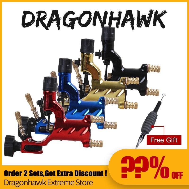 Dragonhawk Rotary Tattoo Machine Shader Liner 7 Colors Assorted Tatoo Motor  Gun