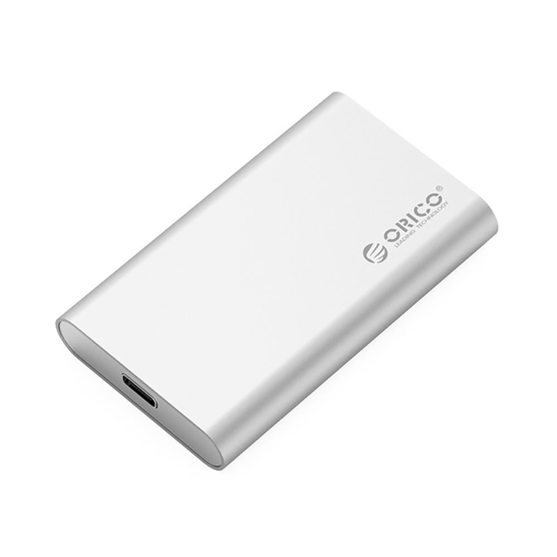 Orico 1.8 Inch Aluminum Mini Msata Ssd Enclosure Hdd Case Type-C 5Gbps High-Speed Screw Fixing Hard Driver External Storage Bo