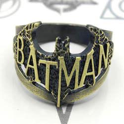 Супер герой Бэтмен кольцо Бронзовый Металл полый костюм аксессуар Косплей коллекция кольцо