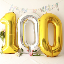 16/32/40inch Iridescent Rainbow Color Number Foil Balloons Birthday Wedding Party Decoration Digital Balloon Melsnajsd