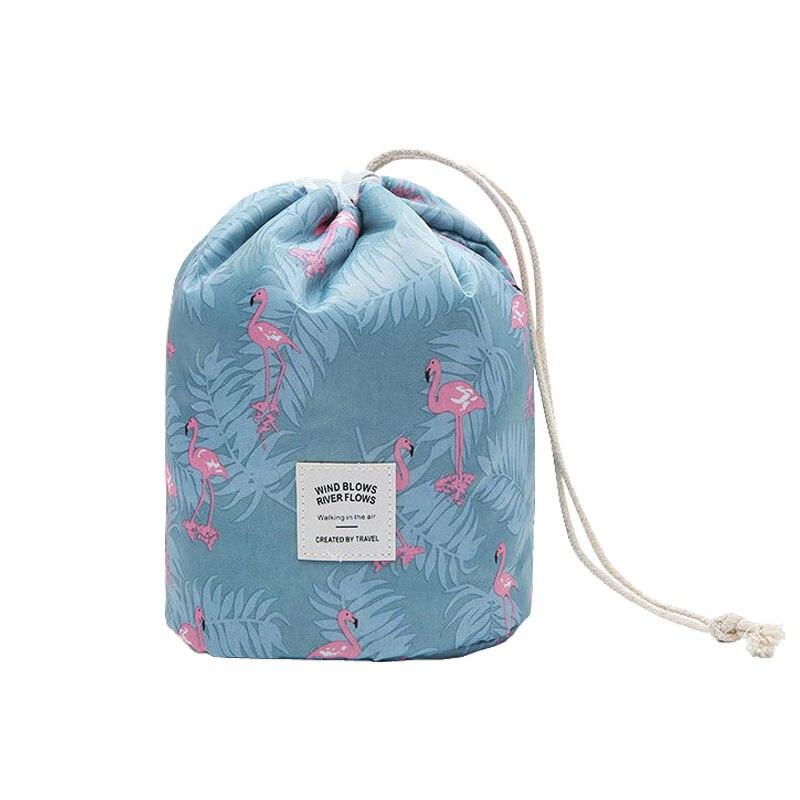 Cheap Flamingo Pattern 2018 Cosmetic Bags Nylon Drawstring Pouches For Toiletries Washes Travel Organizer Bag