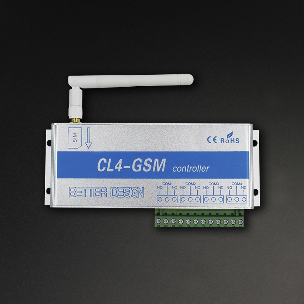 4 Channels GSM Wireless Mobile Phone Remote Control Switch Controller Relay Intelligent Switch Phone Call SMS