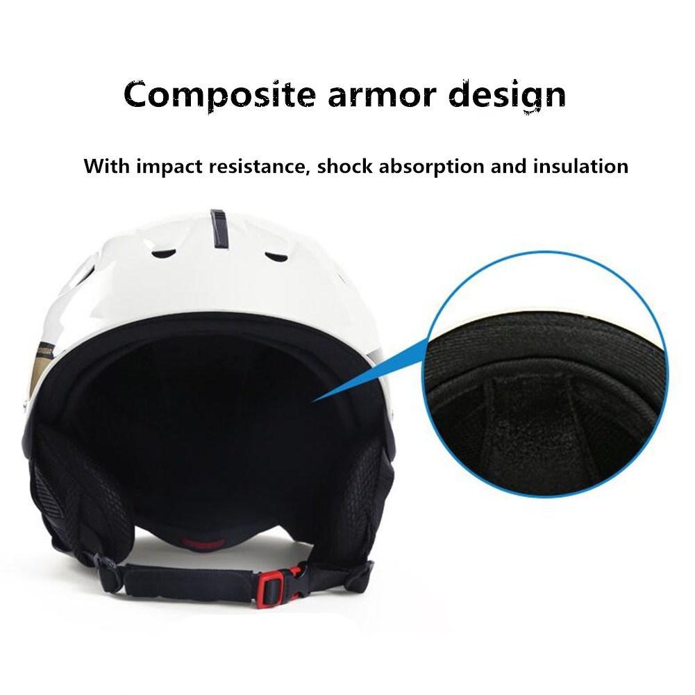 Mounchain Unisex Adult Reinforced Ski Helmet Light Weight Outdoor Sports Protector ski helmet snowbord Equipment 52 61 cm in Ski Helmets from Sports Entertainment