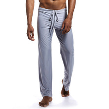 YJSFG HOUSE Man Long Pant Sleepwear Comfy Breathable Slip Mans Sleep Bottoms Casual Mens Trousers Loose Homewear Pants Pajama
