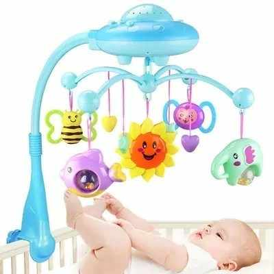 Musical Mobile Baby Toys 0-12 Months Rattles Mobile Dreamful Bed Ring Hanging Rotate Bell Rattles Educational Toys Baby Toy