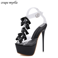 Fashion Summer Women High Heels Sandals Sexy Stripper heels Shoes Party Pumps Shoes Women Gladiator Sandals small size 34 YMA787