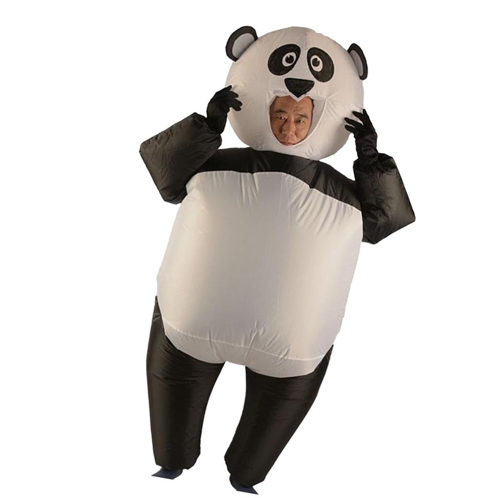 Prettyia удобный надувной костюм панды комбинезон наряд с перчатками Хэллоуин вечерние Fncy платье один размер