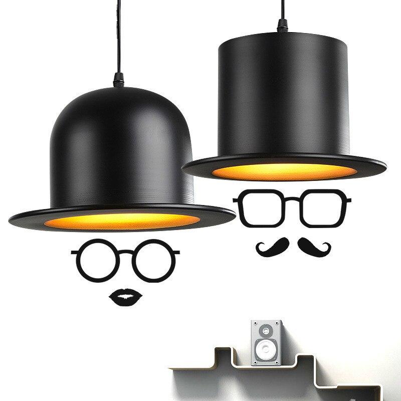 Lampe pendante nordique moderne de forme de chapeau avec la lampe de pendentif LED en Aluminium d'ampoule E27 pour des montages de barre de café de cuisine