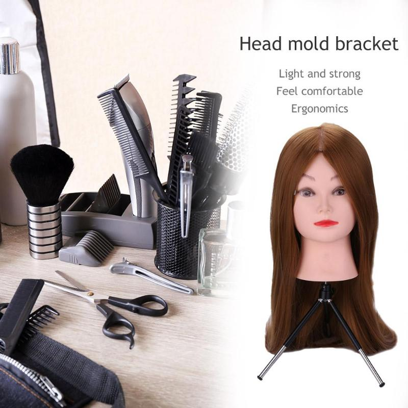 Hair Extensions & Wigs Ingenious Professional Headform Stent Prosthesis Doll Head Holder Wig Hair Model Head Tripod Bracket 2019 Styling Tool Wig Stands