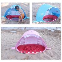 Shark Shape Pop Up Baby Beach Tent UV protecting Sun shelter With Pool Kids Outdoor Camping Sunshade Beach Awning Tent