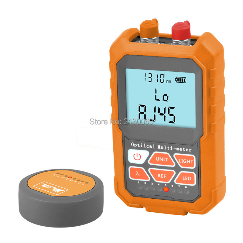 All In One Optical Power Meter Visual Fault Locator Network Cable Test Optical Fiber Tester 5mW, Rechargeable Lithium Battery