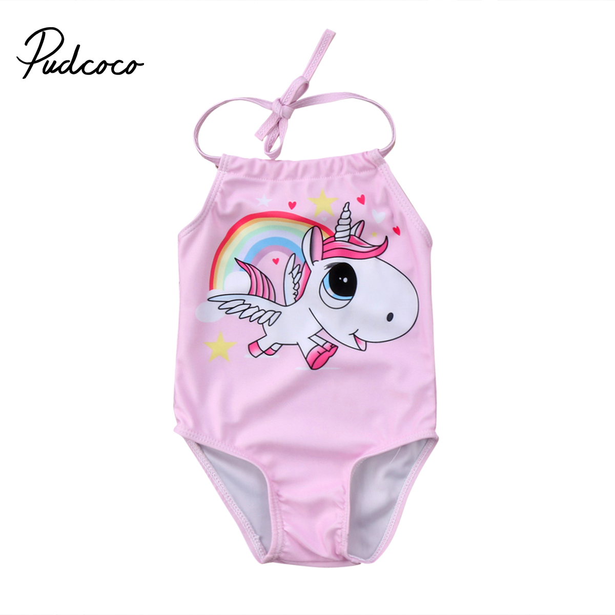 Pudcoco 0-24Months  Kid Baby Girls Cute Unicorn Bikini Swimwear Swimsuit Bathing Suit Beachwear