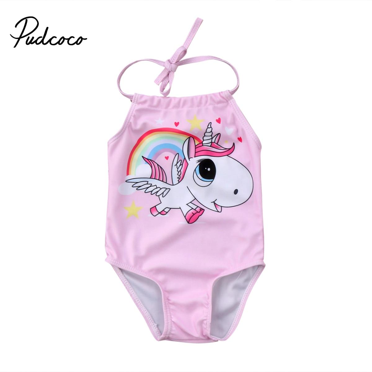 Pudcoco 0-24Months  Kid Baby Girls Cute Unicorn Bikini Swimwear Swimsuit Bathing Suit Beachwear