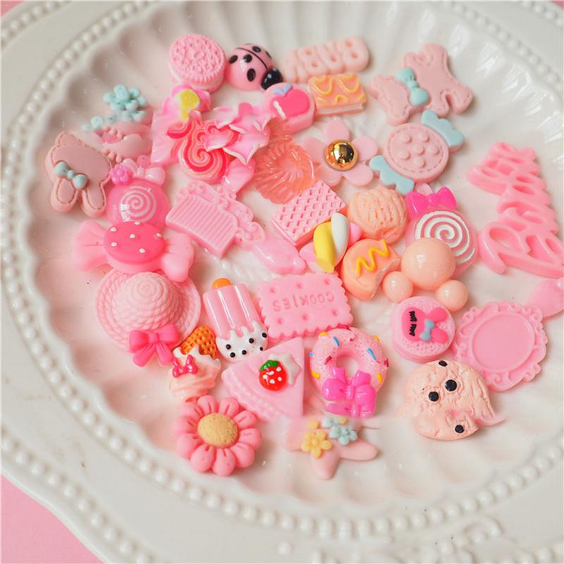30 Pieces Slime Charms Mixed Pink Series Beads Slime Bead Making Supplies For DIY Collage Crafts