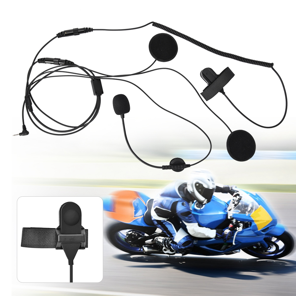 SOONHUA Single 3.5mm Radio Walkie Talkie Motorcycle Bicycle Racing Full Face Helmet Headset Earphone With Two Speakers