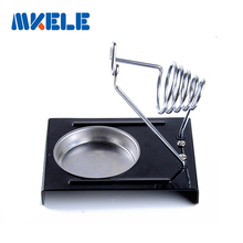 E-011 Soldering Iron Support  Stand Holder Base Metal Rectangle Solder Support Station Soldering Iron Safety Protecting Base