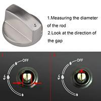 Шт. 8 шт. цинковый сплав поворотный переключатель управление Сменные переключатели интимные аксессуары для Кухня Плита Газовая Духовка