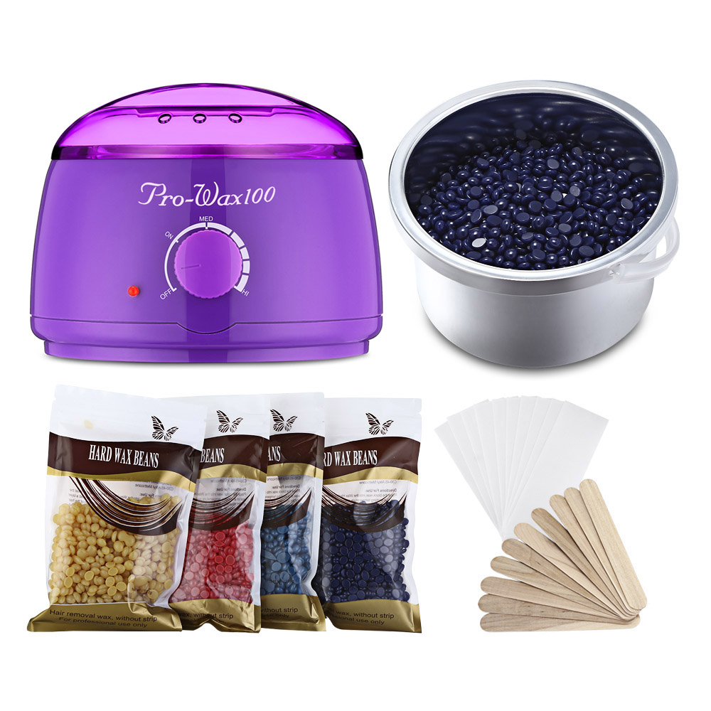 Hair Removal RWH012 Electric Wax Warmer Machine Heater with 4X Beans 10X Papers And 10X Applicator Sticks Waxing Kit ToolsHair Removal RWH012 Electric Wax Warmer Machine Heater with 4X Beans 10X Papers And 10X Applicator Sticks Waxing Kit Tools