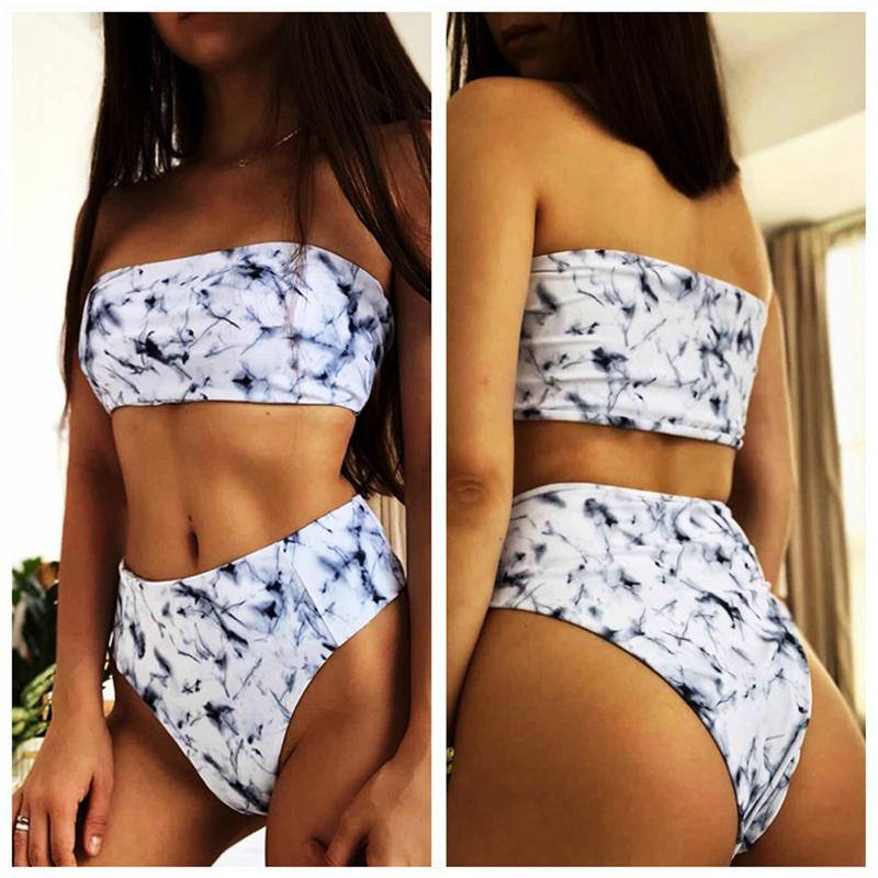 2019 <font><b>Hot</b></font> Sell <font><b>Sexy</b></font> European And American Style Marble Print <font><b>Sexy</b></font> Two Pieces <font><b>Bikini</b></font> Swimsuit image