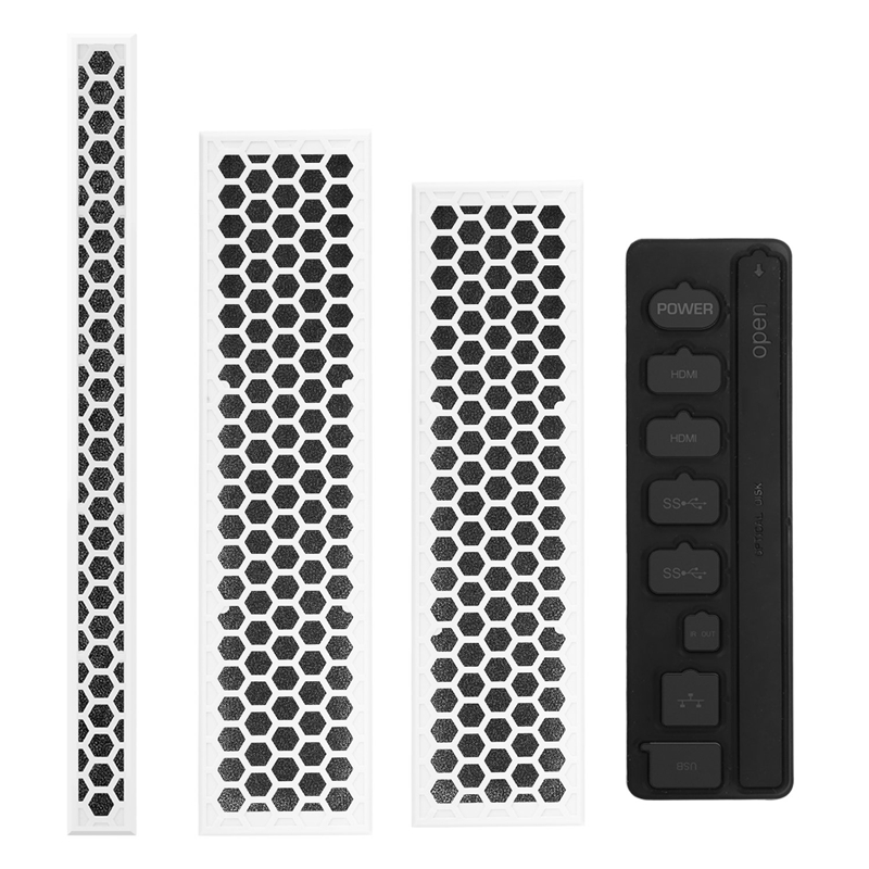 Dust-Proof Kit For Xbox One S, Dirt-Proof Prevention Cover Case Mesh Filter Jack Stopper Pack For Xbox One S Gaming Console