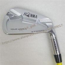 Клюшки для гольфа набор утюгов HONMA TW737V набор для гольфа 4-9 10 клубов NS. PRO стальной графитовая клюшка для гольфа R/S Flex Бесплатная доставка