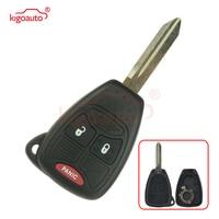 Kigoauto Car Remote Head Ignition Key Keyless Entry Clicker Fob key shell case for Chrysler Dodge 3 button 2004 2015 OHT692427AA|Car Key| |  -