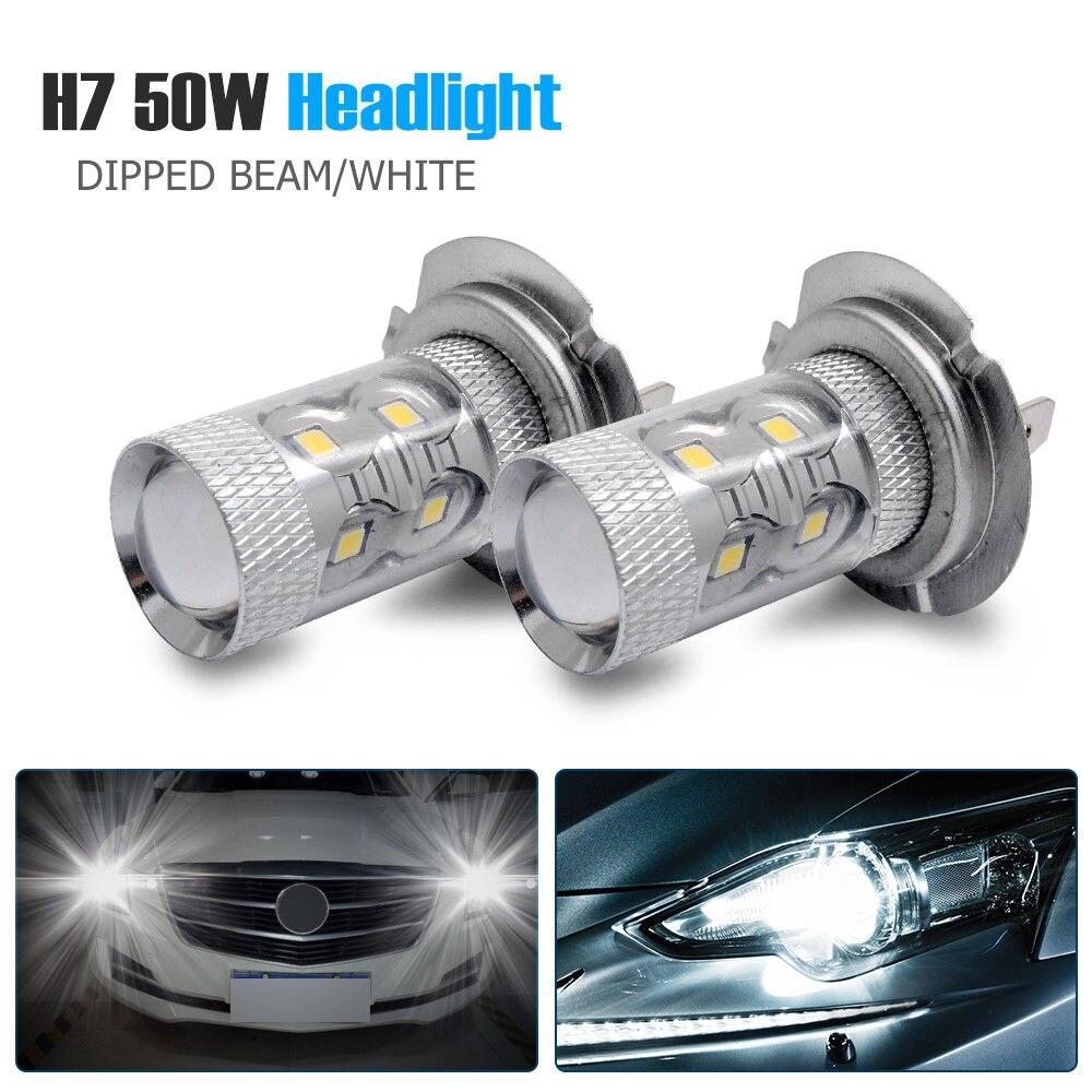Renault Megane MK3 H7 501 100w Super White Xenon HID Low//Side Light Bulbs Set