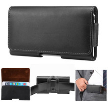 Fashion Mens Universal Horizontal Genuine Leather Waist Pack Belt Clip Bag for