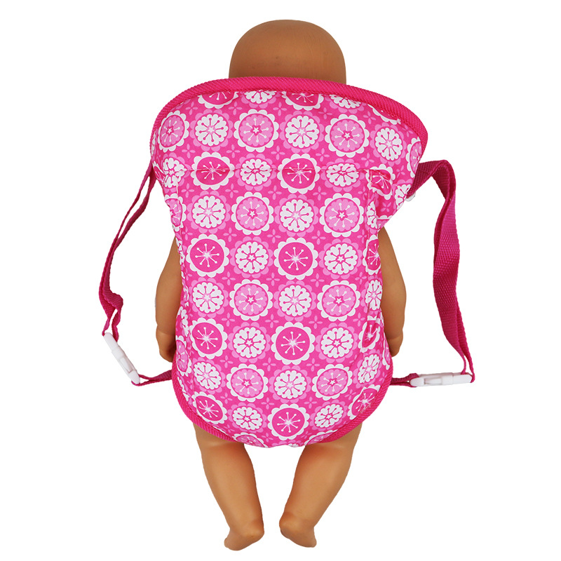 18 Inch Dolls Out Going Carry Bag Pink Snow Bag Doll Accessory For 43cm Girl Doll Bag Convenient Children Carry Go Out in Dolls Accessories from Toys Hobbies