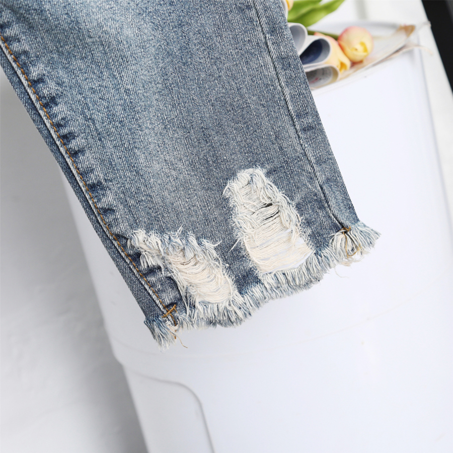 Spring Summer Women Casual High Waist Denim Ankle Length Boyfriend Pants Floral Embroidery Harem Pants Female Plus Size 5XL in Jeans from Women 39 s Clothing