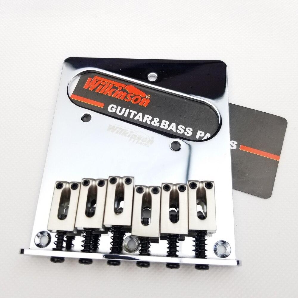Wilkinson Vintage Ponte para Tele Guitarra Elétrica Cordas Thru TL Tele Guitarra Ponte Chrome Prata WOT03