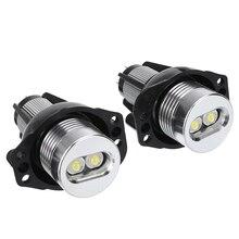 цена на For BMW E90 E911 Pair 20W 12V Car Angel Eyes LED Headlight White Marker Halo Ring Light Bulb Car Styling