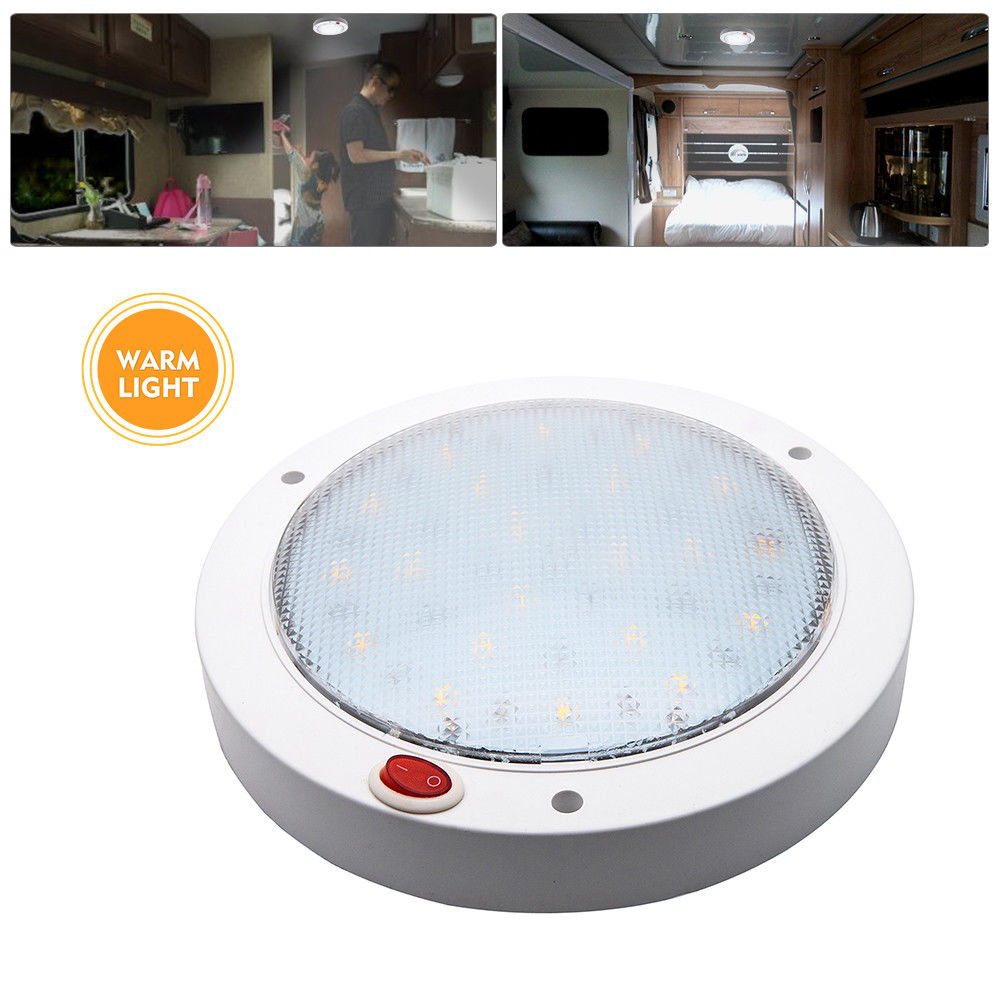 Image 2 - 12V 3W Interior LED Warm White Ceiling Roof Light for Trailer Van Boat Caravan Warm White LED light-in RV Parts & Accessories from Automobiles & Motorcycles