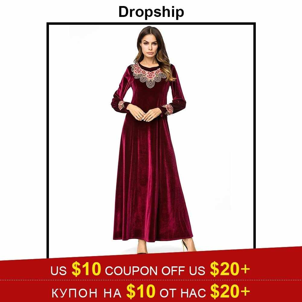 35ddf321b4f5 Dropship Dress Women Dresses Long Maxi Plus Size Vestidos Vintage Verano  2019 Robe Femme Slim Patchwork
