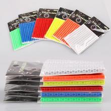 1 упаковка велосипедов цветной, отражающий спицы УФ-стойкие водонепроницаемые износостойкие светоотражающие полосы Аксессуары для велосипеда