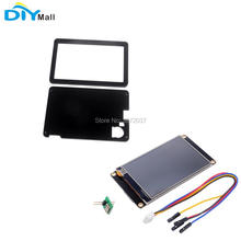 Nextion Enhanced 4.3 NX4827K043 480x272 Resistive Touch Screen HMI UART Display Module Black Case for Arduino Raspberry Pi rcmall nextion 7 0 hmi intelligent nextion lcd module display for arduino raspberry pi esp8266 fz1752 diymall
