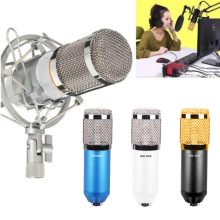 BM800 Professional Broadcast Electric Cardioid Condenser Microphone Shock Mount Mic Sound Studio Recording Wired