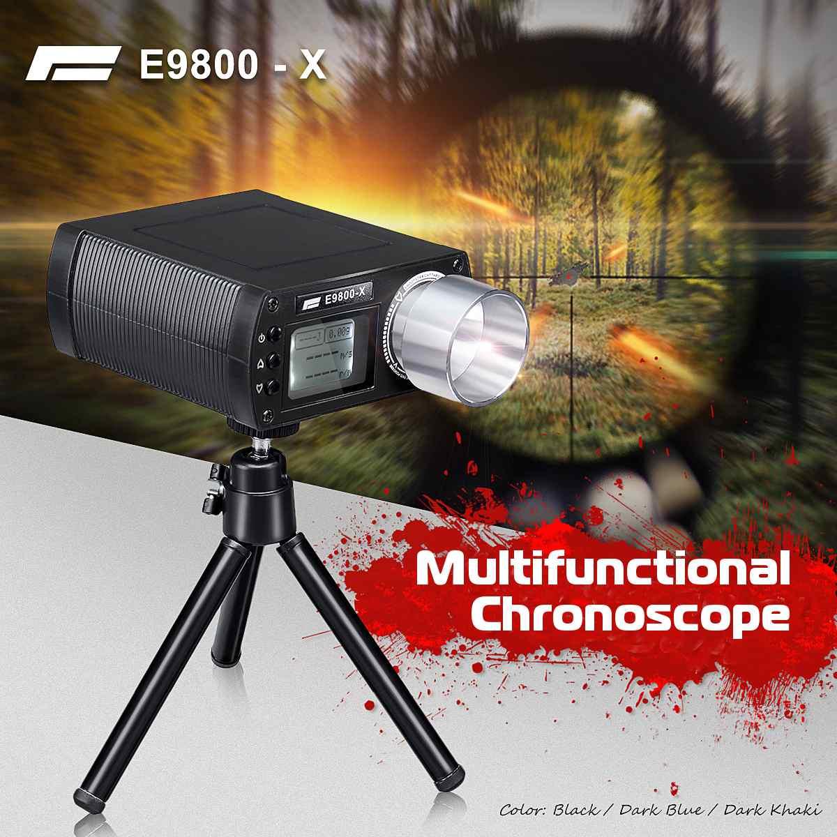 E9800-X Airsoft BB testeur de vitesse de prise de vue haute précision chronographe de prise de vue-10C à 50C 0-500J tir-énergie cinétique écran LCD