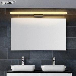 Image 2 - Led ayna hafif paslanmaz çelik AC85 265V Modern duvar lambası banyo ışıkları 40cm 60cm 80cm 100cm 120cm duvar aplikleri aplikler