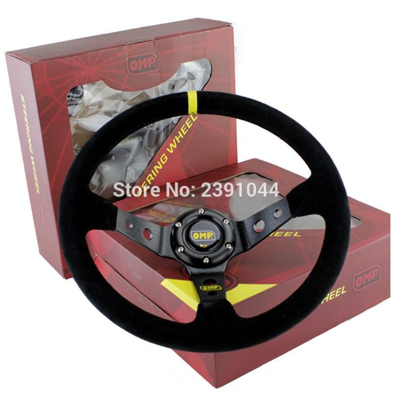 OMP voiture Sport volant de course type haute qualité universel 14 pouces 350 MM aluminium + daim