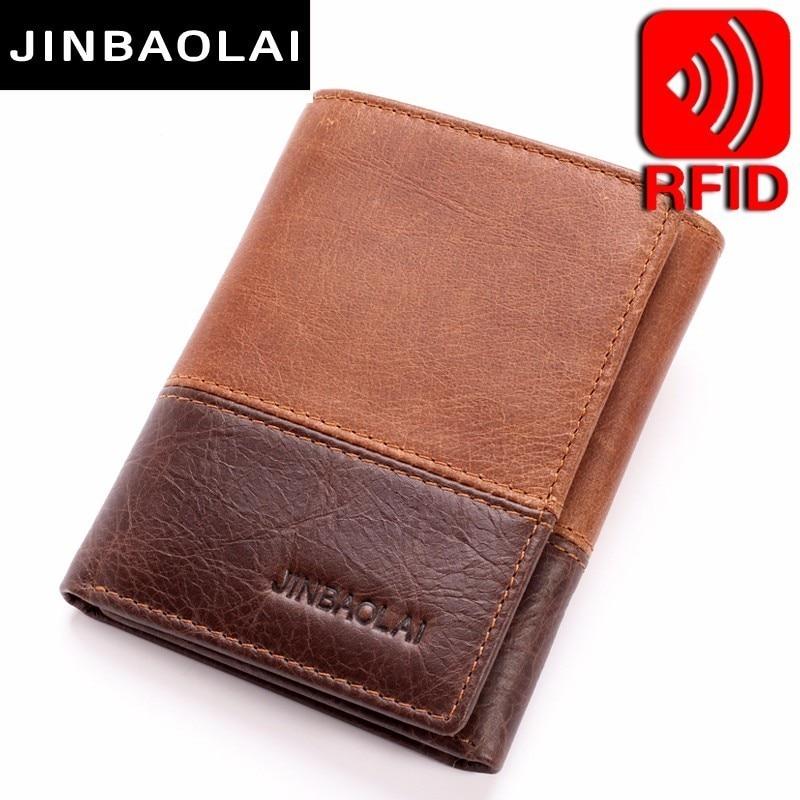 New 3 Fold Genuine Leather Men Wallet Small Men Walet Hasp Male Portomonee Short Card Holder Brand Perse Carteira For Men Wallet