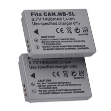 2x 3.7V 1100mAh Replacement NB-5L Battery Pack for Canon Powershot S100, S110, SX230 HS, SX210 IS(China)