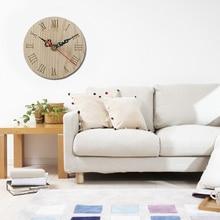 Креативные европейские и американские древние деревянные круглые часы Ретро Европейский стиль домашние настенные часы