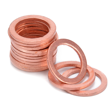 15Pcs M10 Copper Crush Washers HEL Motorcycle Bike Car Brake Line Banjo Bolt M10 Copper Washers Flat Seal Ring Fitting image