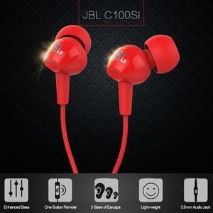 Image 5 - JBL C100SI 3.5 millimetri Wired Cuffie Stereo Musica Auricolare Auricolari Dinamiche a Mani Libere con Il Mic fone de ouvido JBL auricolari