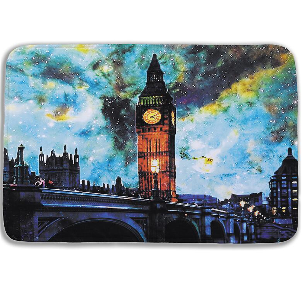 Bathroom Products 2016 New 3d Oil Painting Big Ben Bath Mats Bathroom Mats With Free Shipping Modern London Bridge Carpet Tapis Wc 15.74*23.62in Elegant And Sturdy Package