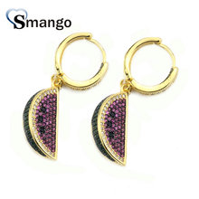 5Pairs,The Rainbow Series,The watermelon Shape Women Fashion Earrings.Gold Colors, Can Wholesale