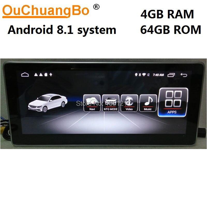 Lecteur multimédia radio gps Ouchuangbo android 8.1 pour Mercedes Benz C 180 200 220 230 260 300 W204 CLK 2008-2014 avec 4 GB + 64 GB