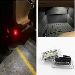 Image 1 - 울트라 브라이트 화이트 LED (클리어 렌즈) 테슬라 모델 3 S X(2 PCS) 용 고출력 인테리어 라이트 카 도어 램프 웅덩이 트렁크 라이트 키트